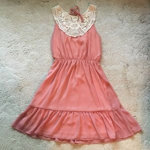 Gorgeous Blush Pink and Lace Dress
